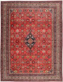 Hamadan Shahrbaf Patina Matta 313X413 Äkta Orientalisk Handknuten Mörkröd/Roströd Stor (Ull, Persien/Iran)