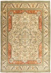 Tabriz Patina Matta 270X379 Äkta Orientalisk Handknuten Mörkbeige/Beige/Ljusbrun Stor (Ull, Persien/Iran)