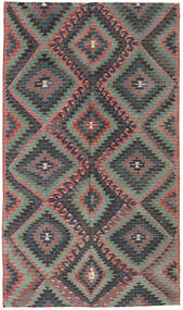 Kelim Turkisk Matta 171X295 Äkta Orientalisk Handvävd Mörkgrå/Svart (Ull, Turkiet)