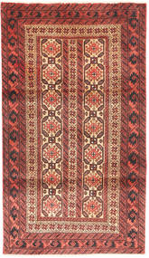 Beluch Matta 88X158 Äkta Orientalisk Handknuten Mörkröd/Mörkbrun (Ull, Persien/Iran)