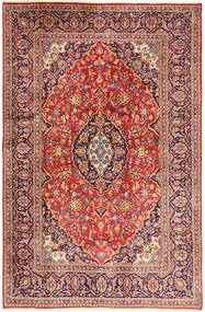 Keshan Matta 195X302 Äkta Orientalisk Handknuten Mörkröd/Beige (Ull, Persien/Iran)