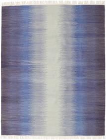 Ikat - Mörk Blå Matta 190X240 Äkta Modern Handvävd Ljusgrå/Lila (Ull, Indien)