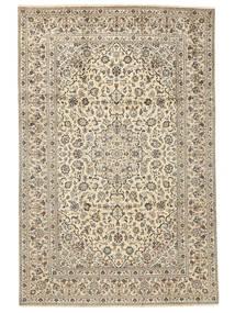 Keshan Matta 238X355 Äkta Orientalisk Handknuten Beige/Mörkbeige/Ljusgrå (Ull, Persien/Iran)