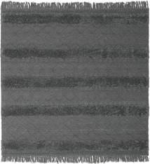 Kelim Berber Ibiza - Mjukt Grå Matta 200X200 Äkta Modern Handvävd Kvadratisk Svart/Blå/Mörkgrå (Ull, Indien)