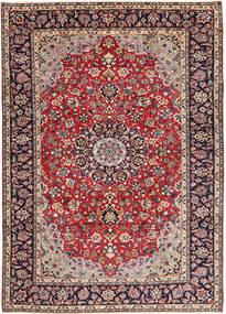 Najafabad Matta 248X338 Äkta Orientalisk Handknuten Mörkröd/Mörklila (Ull, Persien/Iran)