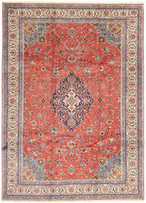 Sarough Matta 243X338 Äkta Orientalisk Handknuten Beige/Roströd (Ull, Persien/Iran)