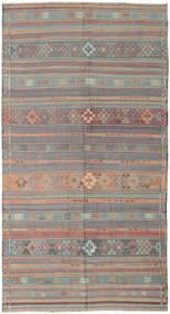 Kelim Turkisk Matta 164X301 Äkta Orientalisk Handvävd Ljusgrå/Rosa (Ull, Turkiet)