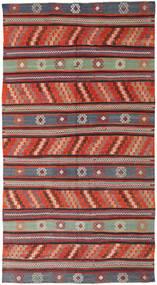 Kelim Turkisk Matta 170X314 Äkta Orientalisk Handvävd Mörkröd/Svart (Ull, Turkiet)