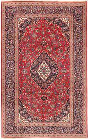 Keshan Matta 205X318 Äkta Orientalisk Handknuten Mörkröd/Roströd (Ull, Persien/Iran)