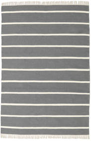 Dorri Stripe - Grå Matta 140X200 Äkta Modern Handvävd Mörkgrå/Beige (Ull, Indien)