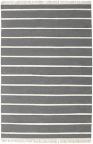Dorri Stripe - Grå Matta 160X230 Äkta Modern Handvävd Mörkbrun/Mörkgrå (Ull, Indien)