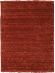 Handloom Fringes - Djup Roströd Matta 140X200 Modern Roströd/Röd/Mörkröd (Ull, Indien)