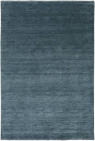 Handloom Fringes - Petrolblå Matta 200X300 Modern Blå/Mörkblå (Ull, Indien)