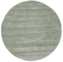 Handloom - Soft Teal Matta Ø 150 Modern Rund Ljusgrå/Ljusgrön (Ull, Indien)