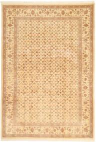 Tabriz 50 Raj Matta 197X287 Äkta Orientalisk Handknuten Mörkbeige/Beige (Ull, Persien/Iran)