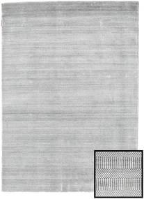 Bambu Grass - Grå Matta 140X200 Modern Ljusgrå/Vit/Cremefärgad (Ull/Bambusilke, Turkiet)