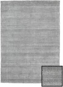 Bambu Grass - Black_ Grå Matta 140X200 Modern Ljusgrå/Mörkgrå (Ull/Bambusilke, Turkiet)