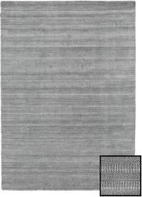 Bambu Grass - Black_ Grå Matta 160X230 Modern Ljusgrå/Mörkgrå (Ull/Bambusilke, Turkiet)