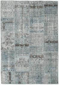 Patchwork Matta 158X229 Äkta Modern Handknuten Ljusgrå/Ljusblå (Ull, Turkiet)
