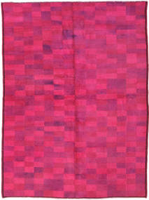 Colored Vintage Matta 140X192 Äkta Modern Handknuten Rosa (Ull, Turkiet)