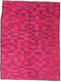Colored Vintage Matta 144X195 Äkta Modern Handknuten Rosa/Röd (Ull, Turkiet)