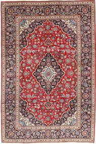 Keshan Matta 203X302 Äkta Orientalisk Handknuten Mörkröd/Mörkbrun (Ull, Persien/Iran)
