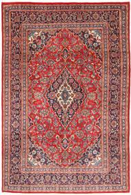Keshan Matta 202X301 Äkta Orientalisk Handknuten Mörkröd/Ljusbrun (Ull, Persien/Iran)