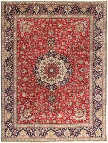 Tabriz Matta 292X393 Äkta Orientalisk Handknuten Mörkröd/Roströd Stor (Ull, Persien/Iran)