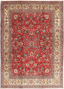 Hamadan Shahrbaf Matta 235X327 Äkta Orientalisk Handknuten Mörkröd/Roströd (Ull, Persien/Iran)
