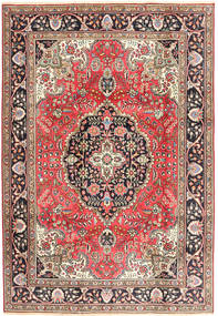 Tabriz Matta 200X287 Äkta Orientalisk Handknuten Mörkröd/Brun (Ull, Persien/Iran)