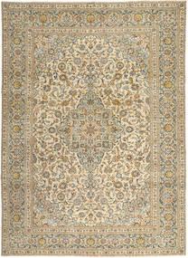 Keshan Patina Matta 272X365 Äkta Orientalisk Handknuten Ljusbrun/Mörkbeige Stor (Ull, Persien/Iran)