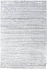 Bambu Silke Loom - Grå Matta 300X400 Modern Vit/Cremefärgad/Ljusgrå Stor ( Indien)