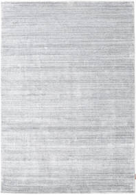 Bambu Silke Loom - Grå Matta 160X230 Modern Vit/Cremefärgad/Ljusgrå ( Indien)