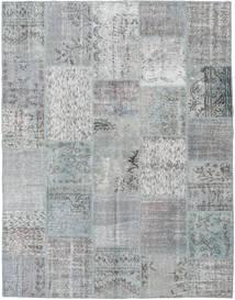 Patchwork Matta 196X251 Äkta Modern Handknuten Ljusgrå/Turkosblå (Ull, Turkiet)