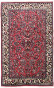 Sarough Matta 130X210 Äkta Orientalisk Handknuten Svart/Mörkgrå (Ull, Persien/Iran)
