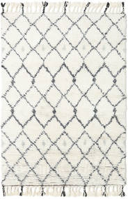 Sauda - Natural Grå Matta 120X180 Äkta Modern Handknuten Beige/Vit/Cremefärgad (Ull, Indien)