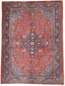 Sarough Matta 150X205 Äkta Orientalisk Handknuten Mörkröd/Ljusrosa (Ull, Persien/Iran)