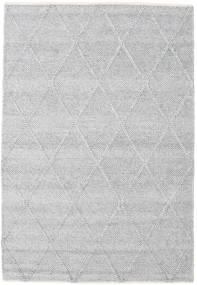 Svea - Silvergrå Matta 140X200 Äkta Modern Handvävd Ljusgrå/Vit/Cremefärgad (Ull, Indien)