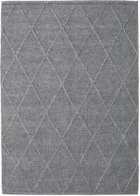 Svea - Kolgrå Matta 160X230 Äkta Modern Handvävd Ljusgrå/Mörkgrå (Ull, Indien)