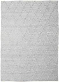 Svea - Silvergrå Matta 250X350 Äkta Modern Handvävd Ljusgrå/Vit/Cremefärgad Stor (Ull, Indien)
