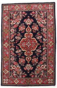 Sarough Matta 144X218 Äkta Orientalisk Handknuten Mörkgrå/Mörkröd (Ull, Persien/Iran)
