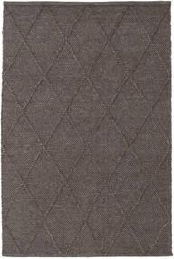 Svea - Mörkbrun Matta 140X200 Äkta Modern Handvävd Mörkgrå/Mörkbrun (Ull, Indien)