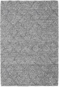 Rut - Mörkgrå Melerad Matta 160X230 Äkta Modern Handvävd Ljusgrå/Mörkbrun (Ull, Indien)