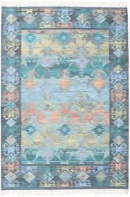 Azteca - Blå Mix Matta 160X230 Äkta Modern Handvävd Ljusblå/Ljusgrå (Ull, Indien)