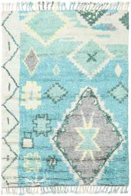 Odda - Turkos Matta 160X230 Äkta Modern Handknuten Ljusgrå/Turkosblå (Ull, Indien)