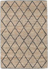 Utomhusmatta Serena Jute - Natural/Svart Matta 160X230 Äkta Modern Handvävd Ljusgrå/Ljusbrun (Jutematta Indien)