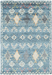 Zaurac - Blå Grå Matta 140X200 Äkta Modern Handknuten Ljusblå/Ljusgrå (Ull, Indien)
