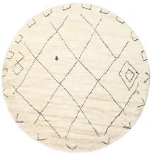 Almaaz - Vit Matta Ø 250 Äkta Modern Handknuten Rund Beige/Vit/Cremefärgad Stor (Ull, Indien)