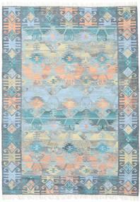 Azteca - Blå Multi Matta 210X290 Äkta Modern Handvävd Ljusblå/Ljusgrå (Ull, Indien)