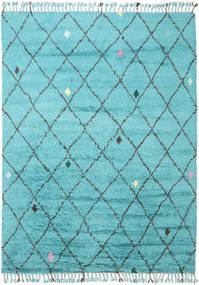 Alta - Turkos Matta 200X300 Äkta Modern Handknuten Ljusblå/Turkosblå (Ull, Indien)